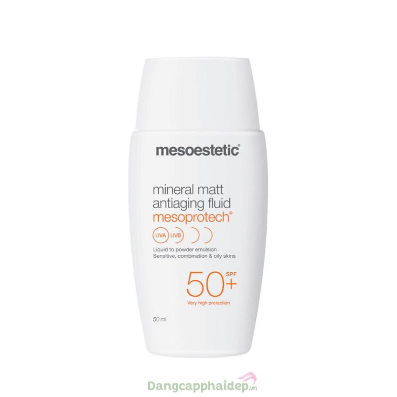 """Mesoestetic Mesoprotech Mineral Matt SPF50 chính là """"chân ái"""" dành cho các loại da khó chiều đấy"""