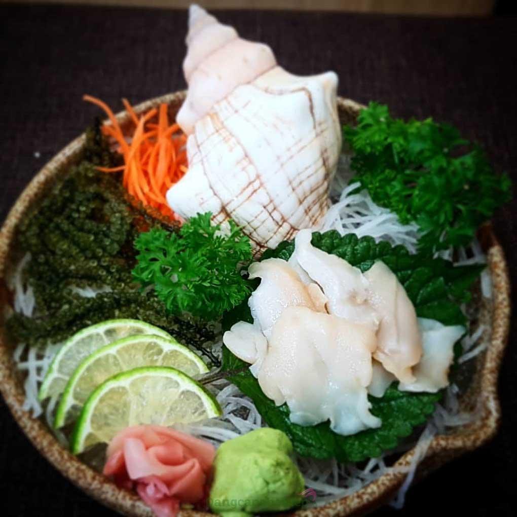 Sashimi ốc xoắn là món ngon danh tiếng