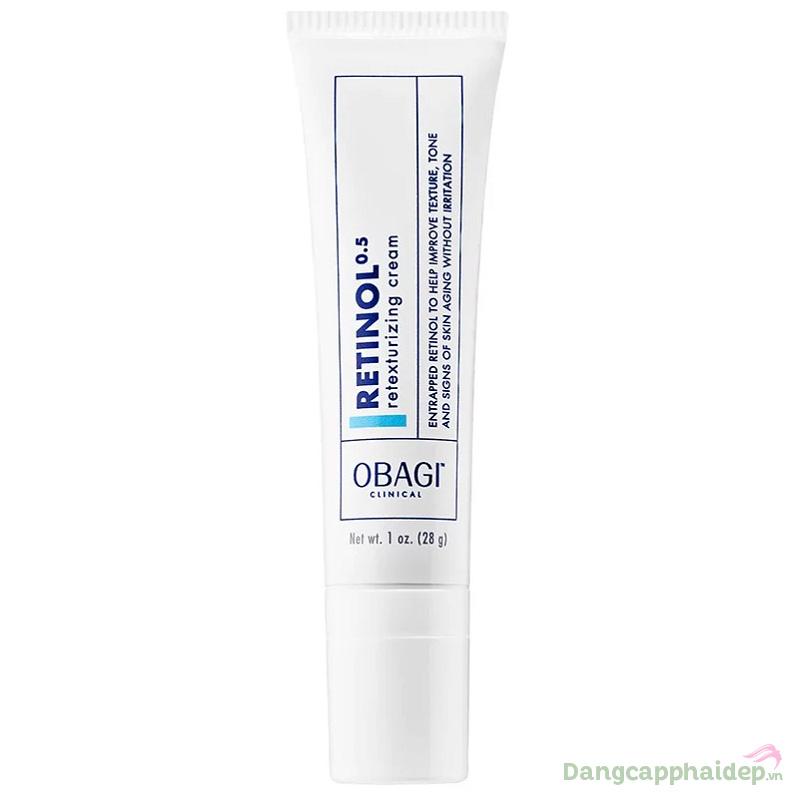 Kem dưỡng tái tạo da chống lão hóa Obagi Clinical Retinol 0.5 Retexturizing Cream