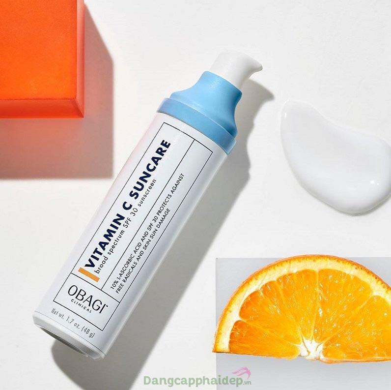 Kem chống nắng chứa 10% vitamin C dạng tinh khiết