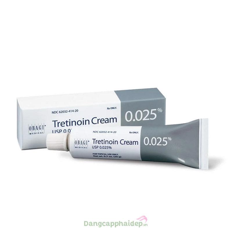 Obagi Tretinoin 0.025% là giải pháp tối ưu trong điều trị mụn, đẩy lùi các dấu hiệu lão hóa da