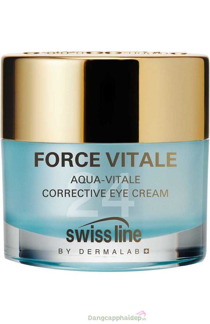 Swissline Aqua-Vitale Corrective Eye Cream 15ml – Kem Dưỡng Mắt Xóa Nếp Nhăn