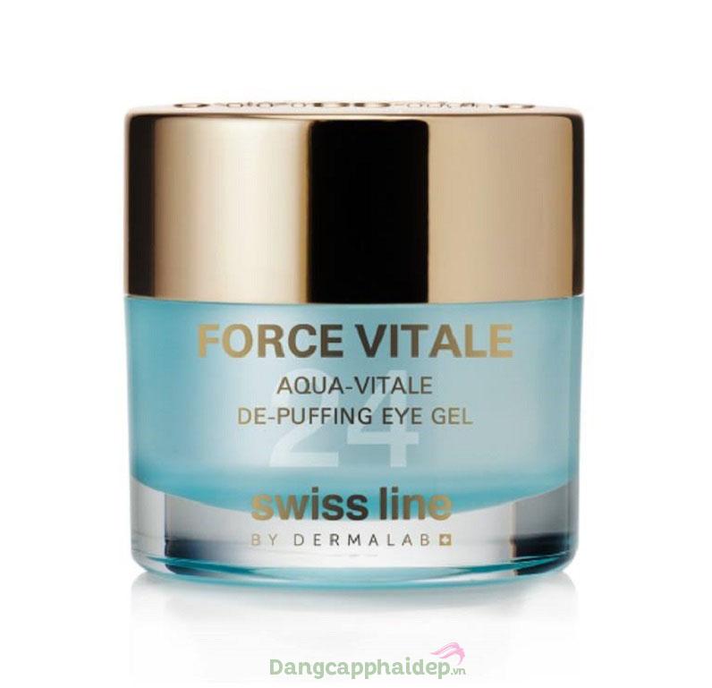 Gel trị bọng mỡ quầng thâm mắt Swissline Aqua-Vitale De-Puffing Eye Gel