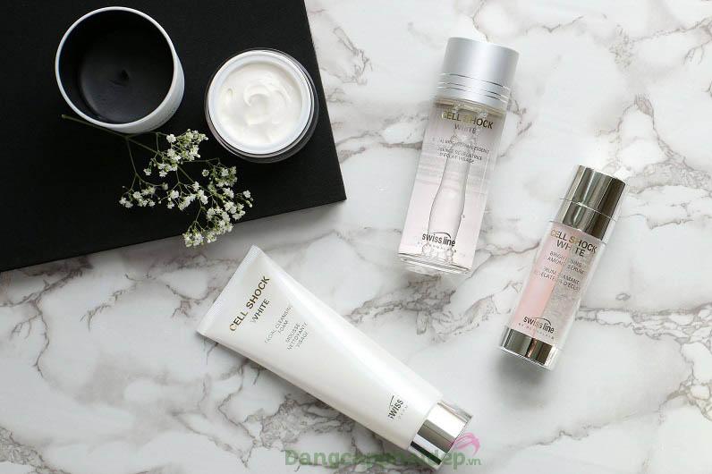 Sử dụng sữa rửa mặt Facial Cleansing Foam kết hợp các dòng chăm sóc da Swissline để đạt hiệu quả chăm sóc da tối đa