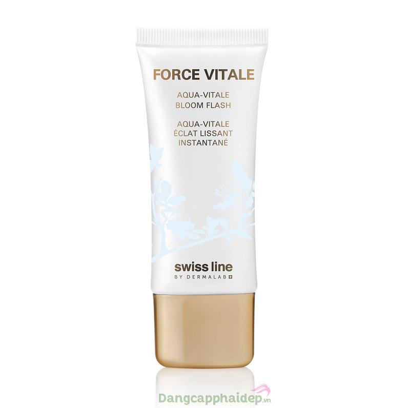 Kem sinh học bảo vệ da che khuyết điểm Swissline Force Vitale Aqua-Vitale Bloom Flash