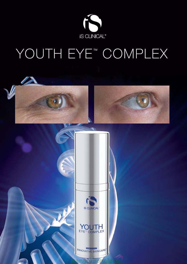 Is clinical youth eye complex dành choi mọi đối tượng giúp sản sinh collagen, ngăn chặn nếp nhăn.