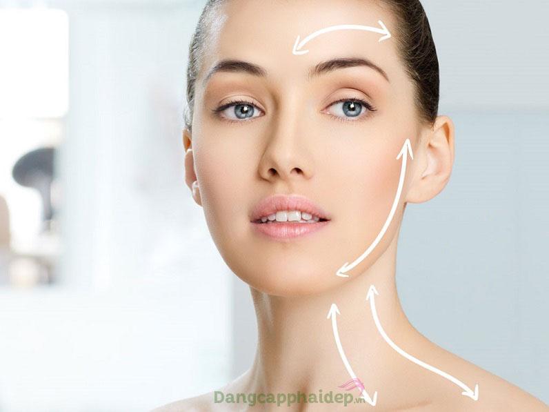 Sản phẩm định hình khuôn mặt, giúp nâng cơ và là phẳng các nếp nhăn trên da...
