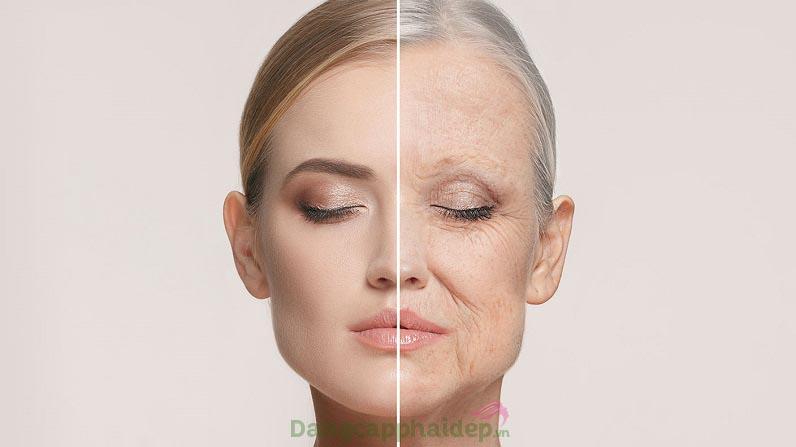Theo thời gian, cộng với các tác động ngoại cảnh, lão hóa da xuất hiện ngày một rõ