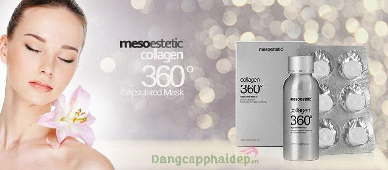 Đẩy lùi da lão hóa với mặt nạ Mesoestetic Collagen 360 Capsulated Mask