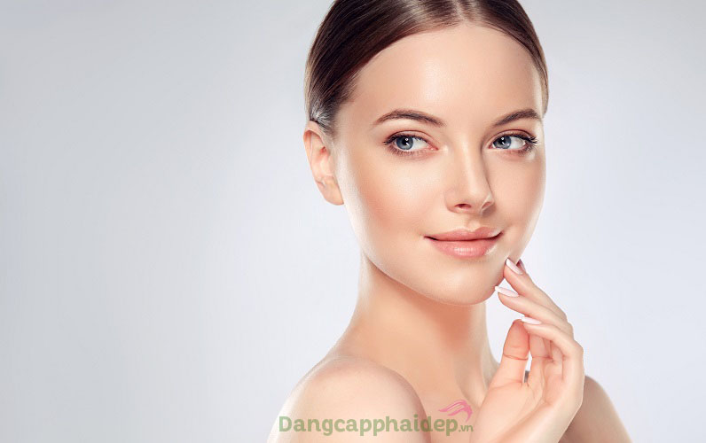Làn da căng mịn, săn chắc và tươi trẻ hơn sau thời gian duy trì đắp mặt nạ Mesoestetic Collagen 360 Mask
