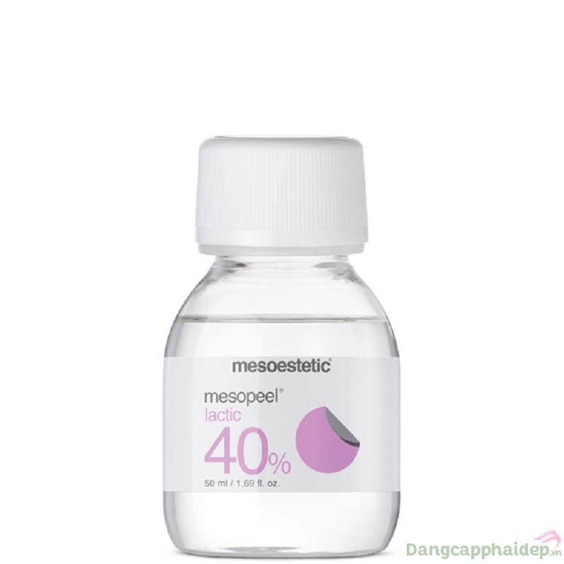 Mesoestetic Mesopeel Lactic 40% là dòng peel chống lão hóa chứa Acid Lactic 40%