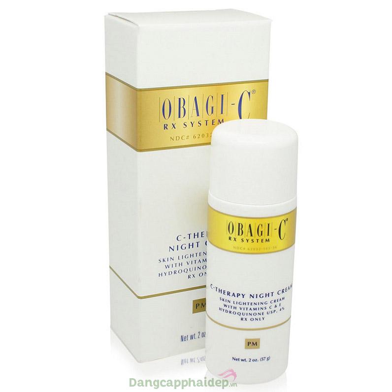 Obagi C Rx C- Therapy Night Cream - Giải pháp lấy lại vẻ đẹp làn da tươi trẻ, trắng sáng rạng rỡ như nguyên bản