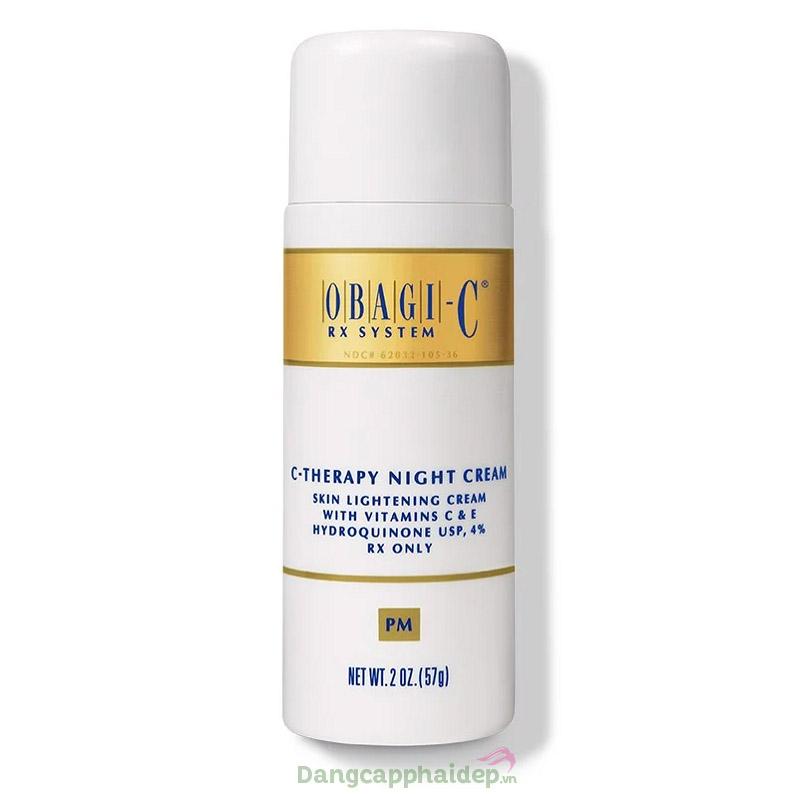 Obagi C Rx C-Therapy Night Cream 57g – Kem Dưỡng Trắng Trị Nám Da Ban Đêm