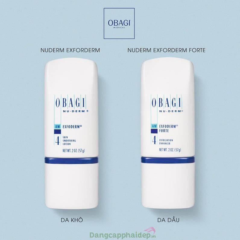 Obagi Nuderm Exfoderm Forte thích hợp cho da dầu, hỗn hợp
