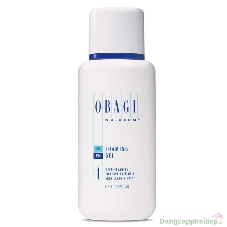 Sữa rửa mặt Obagi NuDerm Foaming Gel dành cho da dầu mụn