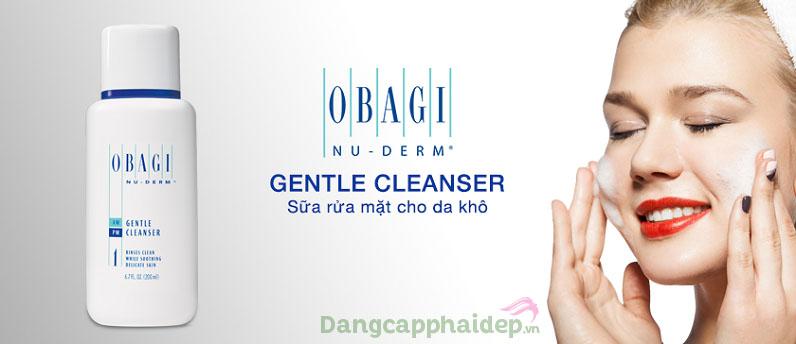 Sữa rửa mặt dành cho da khô Obagi Nu Derm Gentle Cleanser