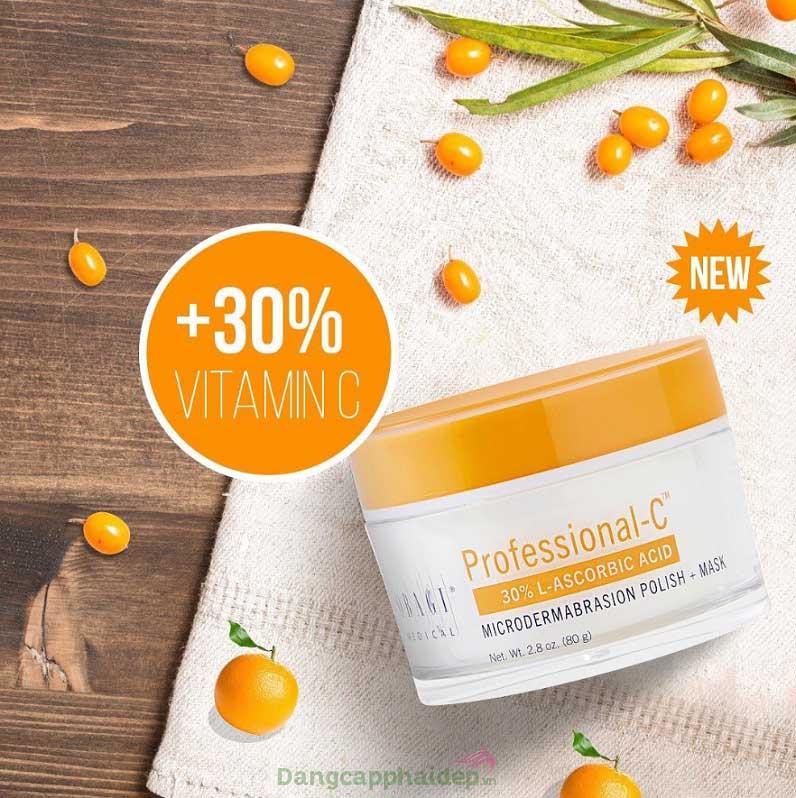 Mặt nạ chứa hàm lượng vitamin C 30%