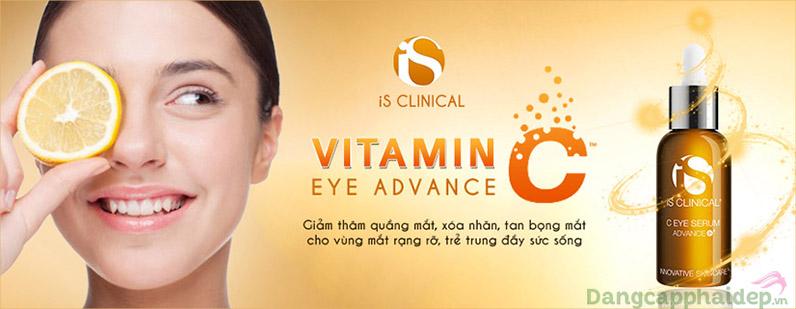 iS Clinical C eye serum advance sử dụng phái sinh tốt nhất L-ascorbic acid của vitamin C.