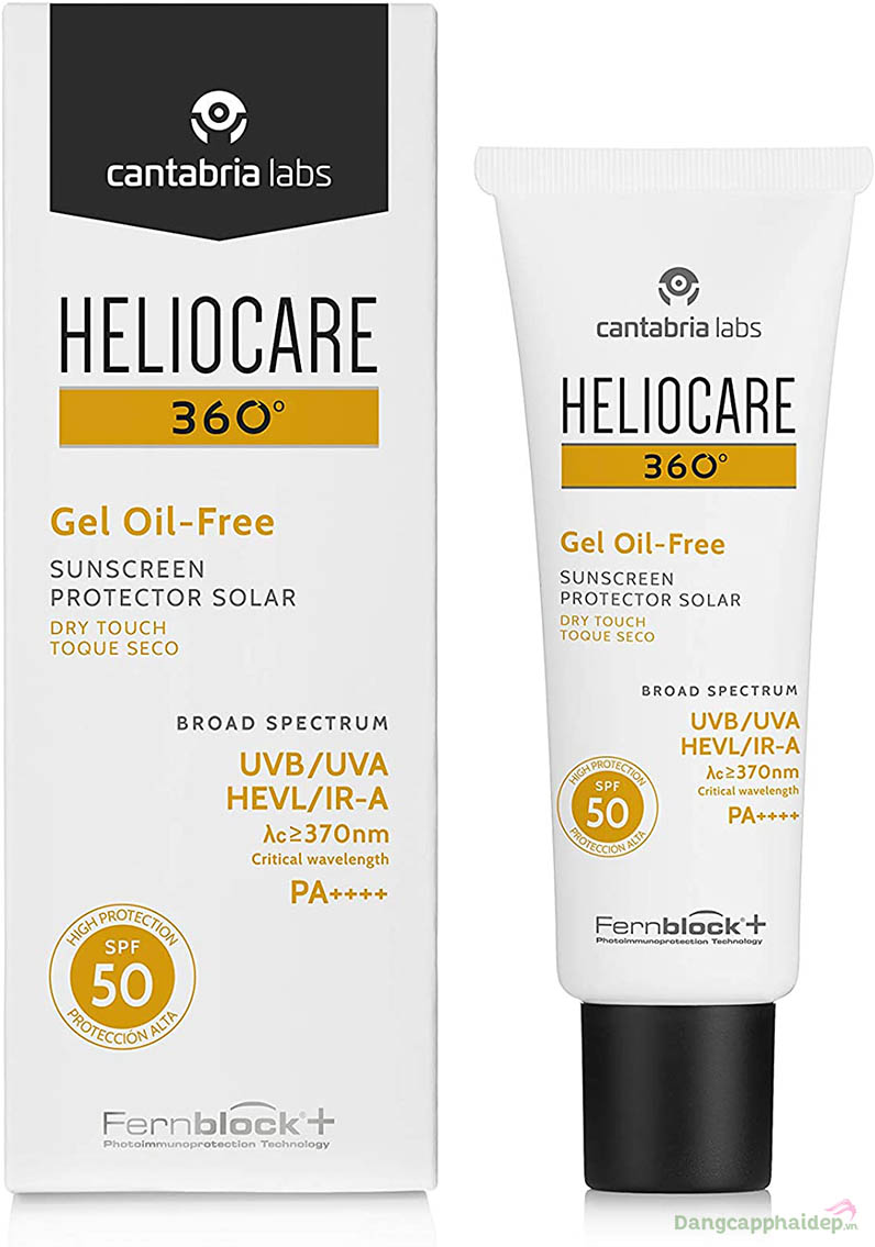 Heliocare 360 Gel Oil-free SPF 50 kem chống nắng cho da dầu mụn.