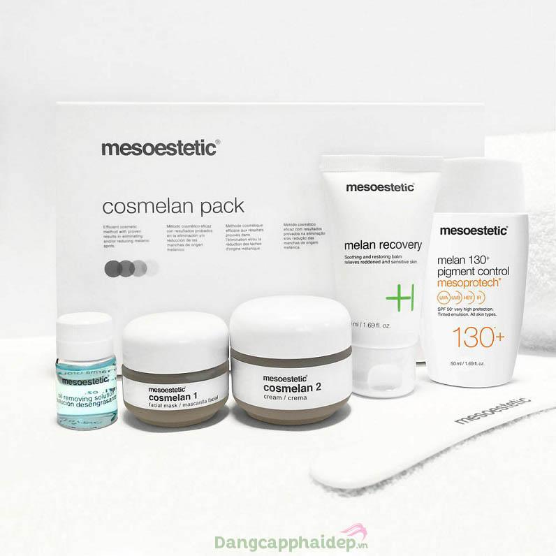 Trị nám triệt để với bộ sản phẩm Mesoestetic Cosmelan Pack (New)