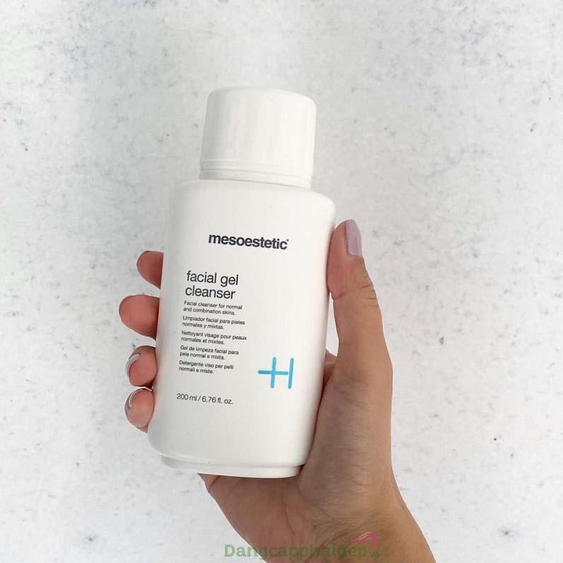 Mesoestetic Facial Gel Cleanser là giải pháp làm sạch tối ưu cho làn da