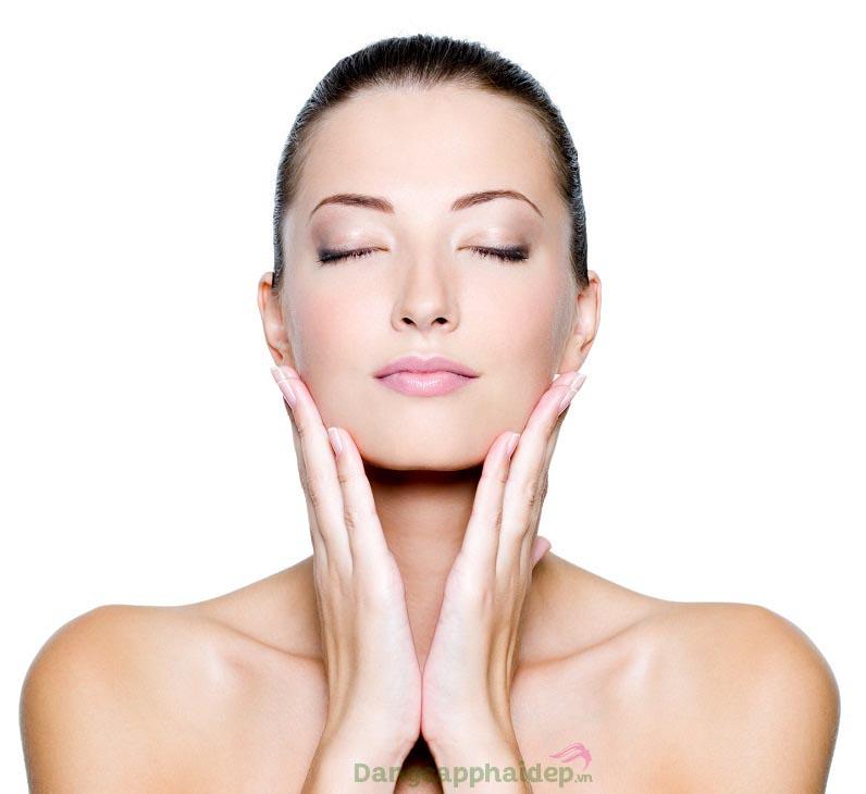 Cải thiện bóng da, da sạch mịn tươi mới sau khi sử dụng sản phẩm