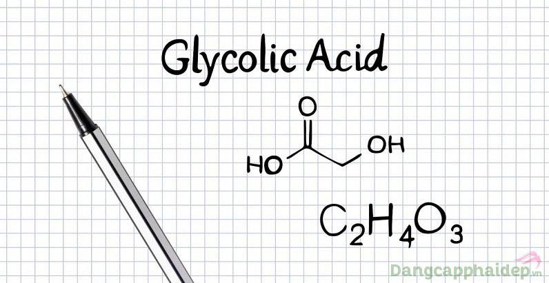 Glycolic acid là thành phần hoạt động chính trong sản phẩm