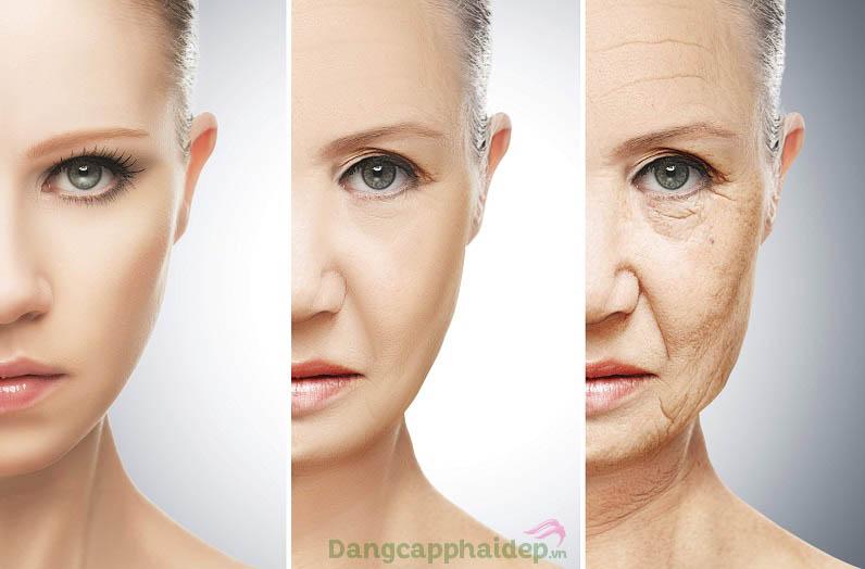 Theo thời gian, làn da xuất hiện các dấu hiệu lão hóa khiến gương mặt trông già nua, xấu xí...