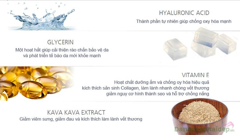 """Sheald Recovery Balm chứa các thành phần thiên nhiên độc đáo như Kava Kava """"xoa dịu"""" và làm lành nhanh vết thương."""