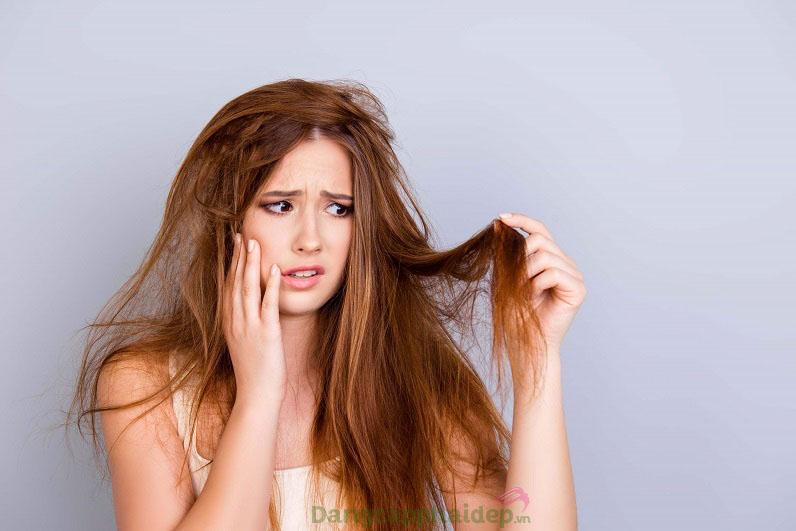 Tóc hư tổn do nhiều nguyên nhân tác động