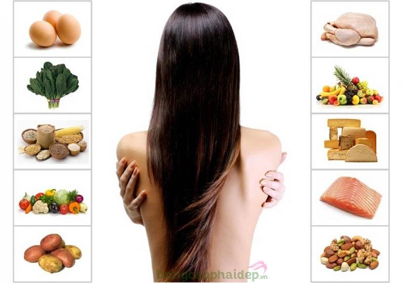 Một chế độ ăn uống khoa học cũng giúp nuôi dưỡng tóc chắc khỏe hơn
