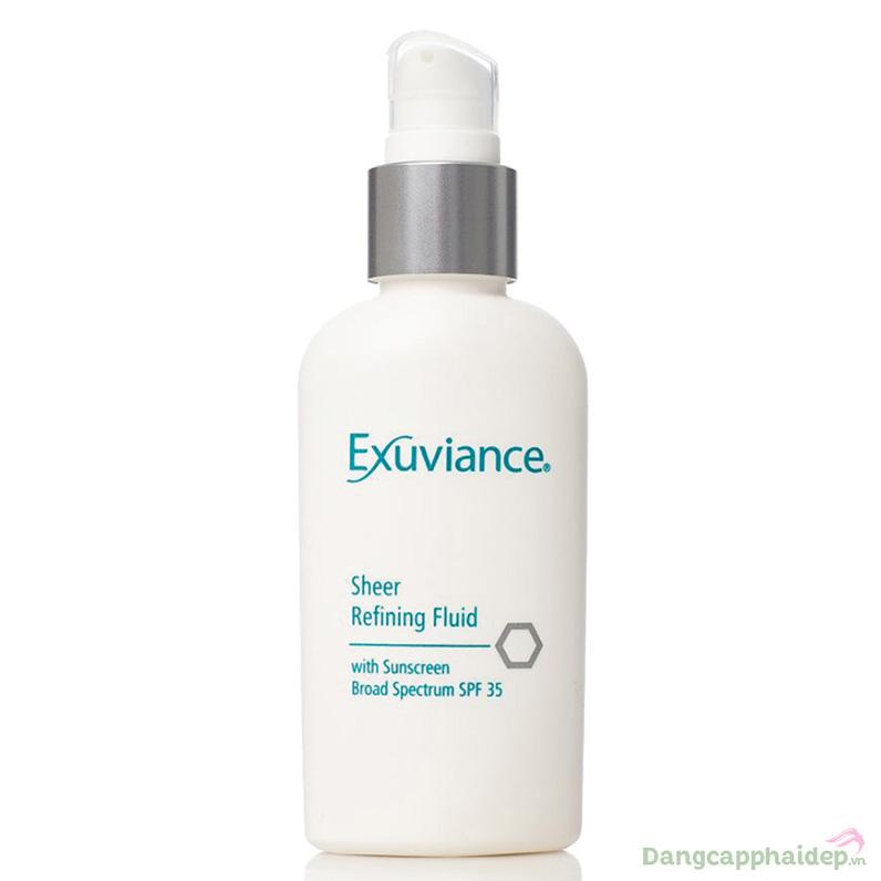 Exuviance Sheer Refining Fluid SPF35 - Kem dưỡng trắng chống nắng cho da dầu