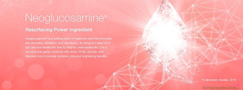 NeoGlucosamine đã được cấp bằng sáng chế về khả năng phục hồi, cải thiện sắc tố da.