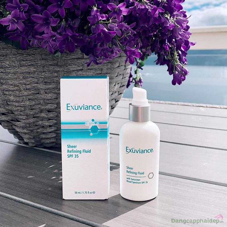 Exuviance Sheer Refining Fluid SPF35 kết hợp những thành phần ưu việt độc quyền phục hồi mọi vấn đề cho làn da dầu, mụn.