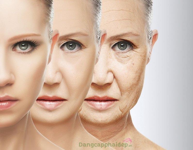 Vì nhiều yếu tố tác động, làn da dần lão hóa theo thời gian
