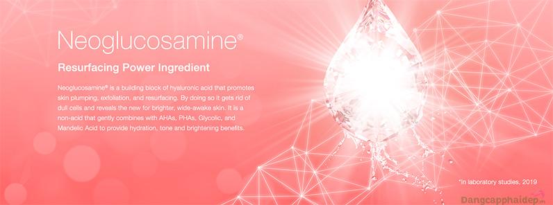 NeoGlucosamine® ngăn chặn và loại bỏ những vết nám, dưỡng sáng mịn da.