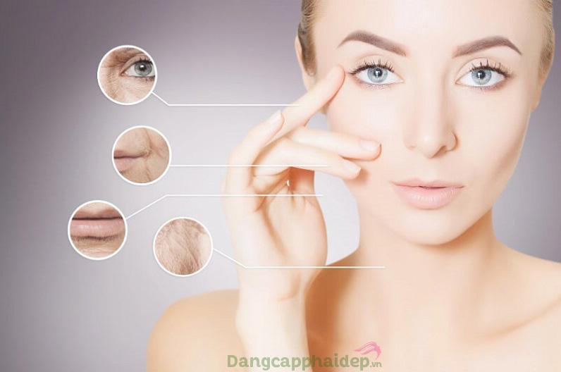 Serum dưỡng da giúp là phẳng các nếp nhăn, đẩy lùi các dấu hiệu da lão hóa