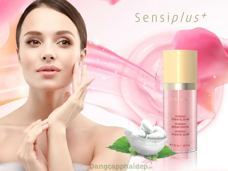 Dễ dàng chăm sóc da nhạy cảm khi có sự hỗ trợ từ tinh chất làm dịu da SensiPlus Hydrasilk Essential Serum
