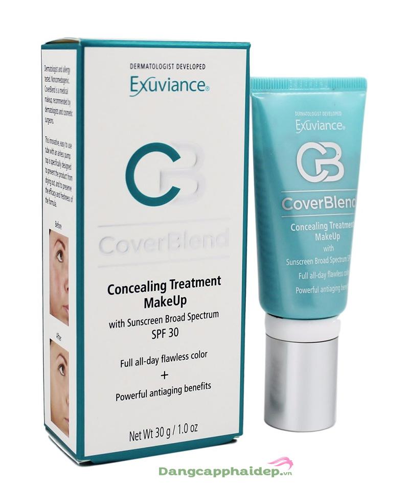 Kem che khuyết điểm Exuviance CoverBlend Concealing Treatment Makeup Tube SPF 30 30g - Cho làn da sáng bừng tự nhiên