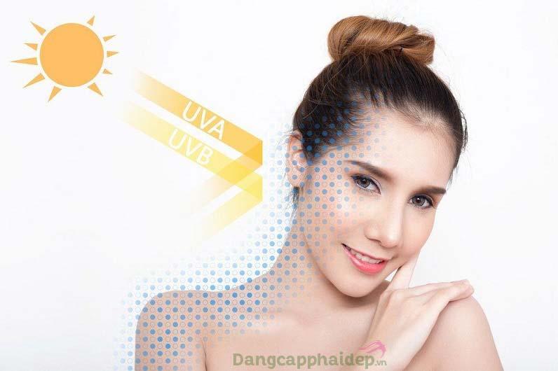 Kem chống nắng cản phá các tác hại của tia cực tím với làn da