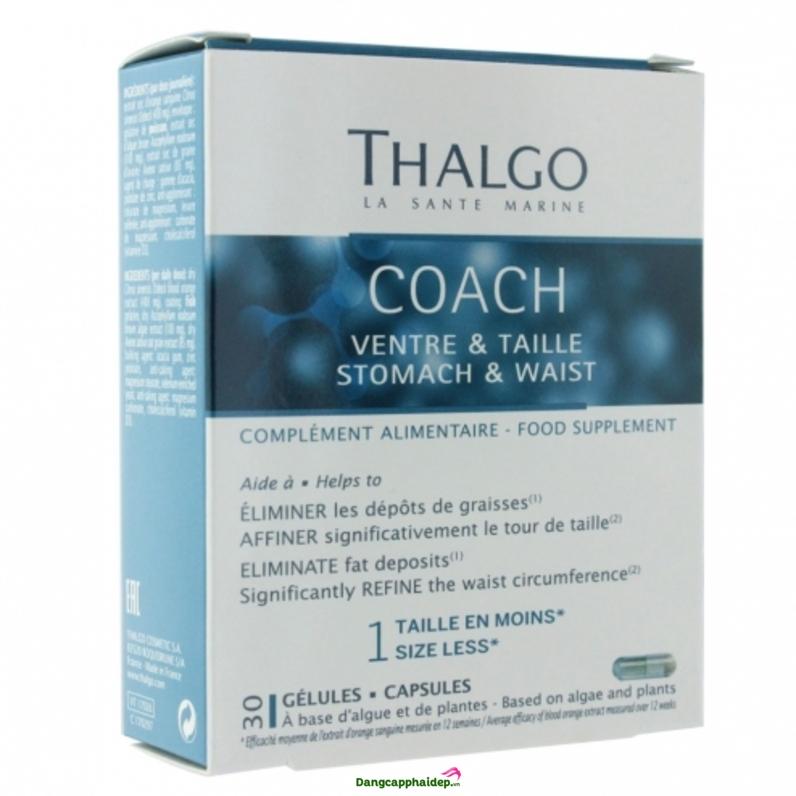 Vòng eo quyến rũ với viên uống giảm mỡ bụng Coach Stomach & Waist Thalgo