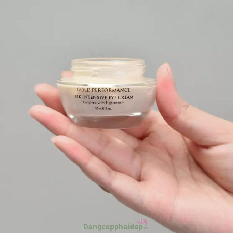 Khắc phục hiệu quả các khuyết điểm vùng mắt với Aqua Mineral 24k Intensive Eye Cream