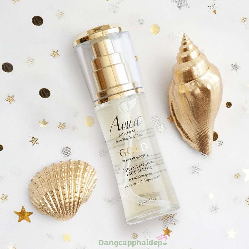 Khắc phục tối đa các dấu hiệu lão hóa da với serum vàng dưỡng da Aqua Mineral 24k Intensive Face Serum
