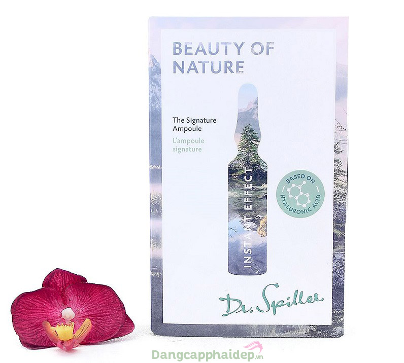 Dr Spiller Beauty of Nature Instant Effect Signature Ampoule – Tinh Chất Phục Hồi Da Chống Lão Hóa