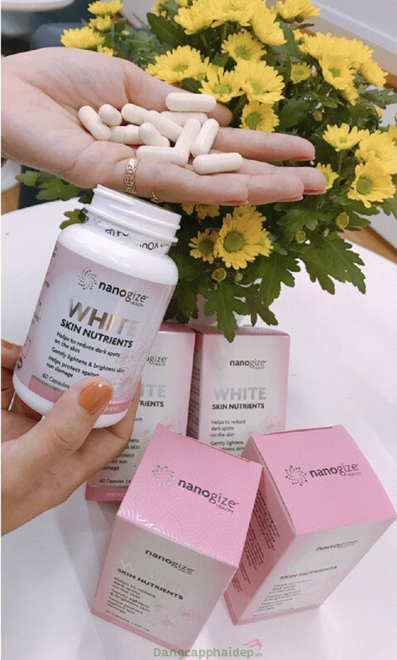 Uống viên uống 2 lần/ngày để tối ưu hiệu quả dưỡng sáng da