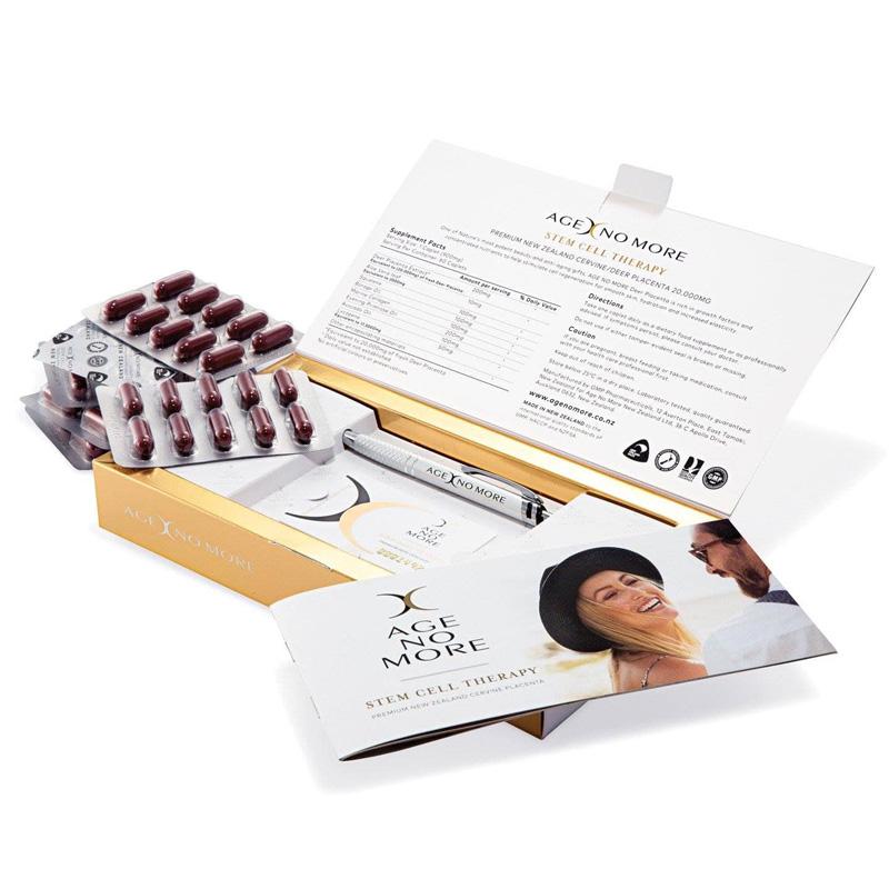 Viên Uống Tế Bào Gốc Nhau Thai Hươu Age No More Stem Cell Therapy Cervine 20.000mg