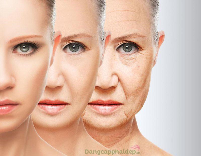 Không chăm sóc da đúng cách, làn da lão hóa dần theo thời gian