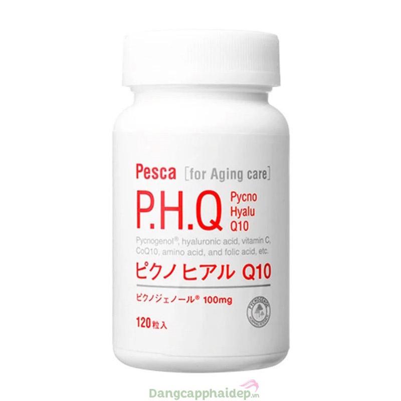 Pesca P.H.Q Pycno Hyalu Q10 120 viên – Viên Uống Trị Nám Làm Đẹp Da Của Nhật
