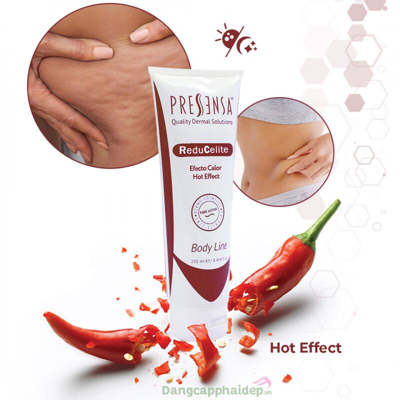 Gel giảm mỡ bụng Pressensa ReduCelite Hot Effect 250ml  - Đánh bay mỡ bụng trong tích tắc