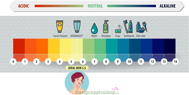 Chọn sữa rửa mặt dành cho da dầu mụn có độ pH phù hợp sẽ giúp hạn chế tình trạng tiết bã nhờn